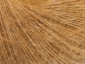 Fiber Content 40% Kid Mohair, 40% Alpaca Superfine, 3% Elastan, 17% Polyamide, Light Brown, Brand Ice Yarns, fnt2-64987