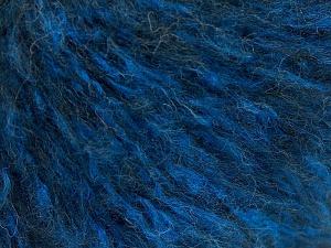 Fiber Content 40% Cotton, 20% Polyamide, 20% Acrylic, 20% Alpaca Superfine, Brand Ice Yarns, Blue, Black, fnt2-64991