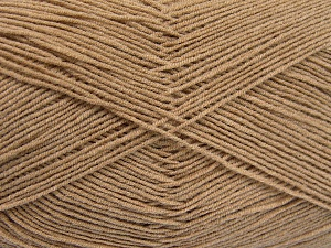 Fiberinnehåll 55% Bomull, 45% Akryl, Brand Ice Yarns, Beige, Yarn Thickness 1 SuperFine  Sock, Fingering, Baby, fnt2-65000
