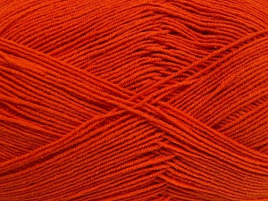 Fiberinnehåll 55% Bomull, 45% Akryl, Orange, Brand Ice Yarns, Yarn Thickness 1 SuperFine  Sock, Fingering, Baby, fnt2-65004