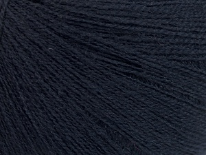 Fiber Content 64% Superwash Extrafine Merino Wool, 20% Cashmere, 16% Elite Polyester, Brand Ice Yarns, Dark Navy, fnt2-65008