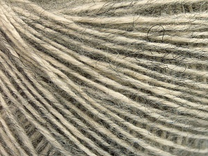 Fiber Content 56% Cotton, 22% Extrafine Merino Wool, 22% Baby Alpaca, Light Grey, Brand Ice Yarns, fnt2-65016