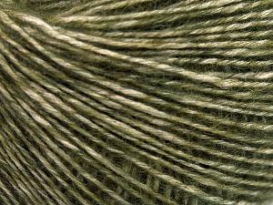 Fiber Content 56% Cotton, 22% Extrafine Merino Wool, 22% Baby Alpaca, Brand Ice Yarns, Dark Green, fnt2-65028