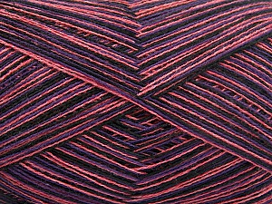 Fiber Content 50% Cotton, 50% Acrylic, Purple, Pink, Brand Ice Yarns, Dark Navy, fnt2-65044