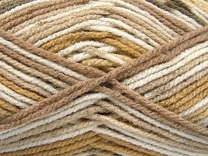 Fiber Content 100% Acrylic, White, Brand Ice Yarns, Brown Shades, Yarn Thickness 4 Medium  Worsted, Afghan, Aran, fnt2-65050