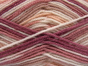 Fiber Content 100% Acrylic, White, Pink, Orchid, Light Salmon, Brand Ice Yarns, Yarn Thickness 4 Medium  Worsted, Afghan, Aran, fnt2-65053