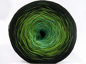 Fiber Content 50% Acrylic, 50% Cotton, Brand Ice Yarns, Green Shades, Black, Yarn Thickness 2 Fine  Sport, Baby, fnt2-65056
