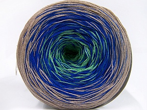Fiber Content 50% Cotton, 50% Acrylic, Light Green, Light Camel, Brand Ice Yarns, Blue, Yarn Thickness 2 Fine  Sport, Baby, fnt2-65058