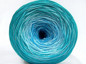 Fiber Content 50% Acrylic, 50% Cotton, Turquoise Shades, Brand Ice Yarns, Yarn Thickness 2 Fine  Sport, Baby, fnt2-65062