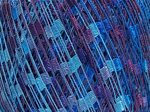 Trellis  Fiber Content 100% Polyester, Purple, Brand Ice Yarns, Blue Shades, Yarn Thickness 5 Bulky  Chunky, Craft, Rug, fnt2-65064