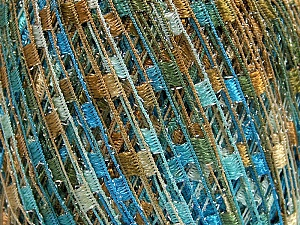 Trellis  Fiberinnehåll 95% Polyester, 5% Lurex, Brand Ice Yarns, Bronze, Blue Shades, Yarn Thickness 5 Bulky  Chunky, Craft, Rug, fnt2-65068