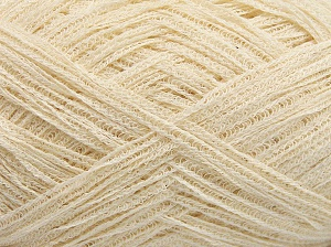 Fiber Content 74% Cotton, 26% Polyamide, Brand Ice Yarns, Cream, fnt2-65072