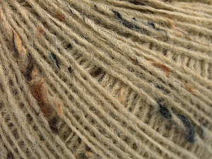 Fiber Content 50% Wool, 40% Acrylic, 10% Viscose, Brand Ice Yarns, Dark Cream, fnt2-65086
