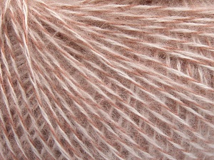 Fiber Content 85% Acrylic, 15% Wool, White, Rose Pink, Brand Ice Yarns, fnt2-65098
