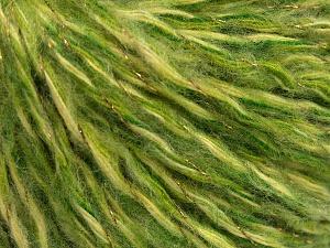 Περιεχόμενο ίνας 40% Μαλλί, 30% Ακρυλικό, 20% Πολυαμίδη, 10% Μεταλλικό lurex, Brand Ice Yarns, Green Shades, fnt2-65116