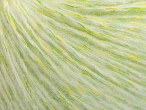 Fiber Content 50% Acrylic, 30% Wool, 20% Polyamide, White, Brand Ice Yarns, Green Shades, fnt2-65124