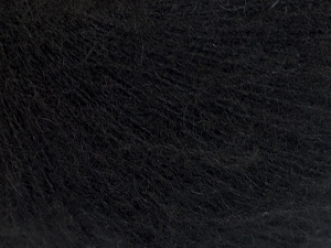 Fiber Content 5% Merino Wool, 41% SuperKid Mohair, 23% Viscose, 23% Polyamide, 2% Elastan, Brand Ice Yarns, Black, fnt2-65144