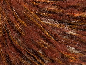 Fiber Content 30% Wool, 30% Acrylic, 20% Polyamide, 20% Mohair, Brand Ice Yarns, Copper Shades, fnt2-65160
