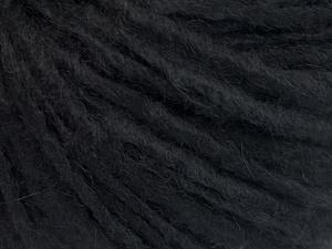 Fiber Content 50% Merino Wool, 25% Acrylic, 25% Alpaca, Brand Ice Yarns, Black, fnt2-65171