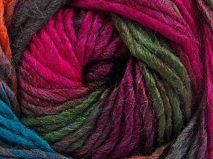 Contenido de fibra 50% Lana, 50% Acrílico, Turquoise, Brand Ice Yarns, Fuchsia, Copper, fnt2-65182