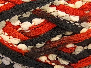 Fiberinnehåll 85% Akryl, 15% Nylon, Orange, Light Grey, Brand Ice Yarns, Ecru, Black, fnt2-65183