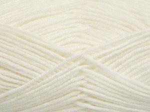 Fiber Content 50% Acrylic, 50% Wool, White, Brand Ice Yarns, fnt2-65185