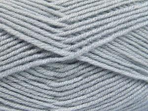 Fiber Content 50% Acrylic, 50% Wool, Light Grey, Brand Ice Yarns, fnt2-65188