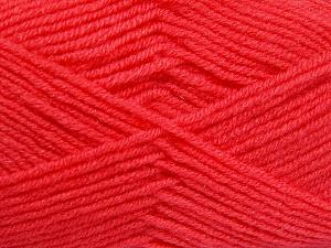 Fiber Content 50% Wool, 50% Acrylic, Salmon, Brand Ice Yarns, fnt2-65190