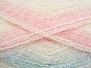 Fiber Content 65% Premium Acrylic, 35% Mohair, White, Light Pink, Light Blue, Brand Ice Yarns, fnt2-65197