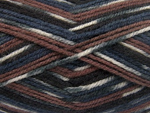 Fiber Content 50% Wool, 50% Acrylic, White, Brand Ice Yarns, Grey, Brown Shades, Black, fnt2-65204