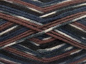 Contenido de fibra 50% Lana, 50% Acrílico, White, Brand Ice Yarns, Grey, Brown Shades, Black, fnt2-65204