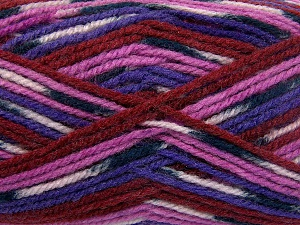 Fiber Content 50% Wool, 50% Acrylic, Purple, Light Pink, Brand Ice Yarns, Fuchsia, Burgundy, Black, fnt2-65205