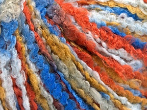 Fiber Content 55% Acrylic, 35% Wool, 10% Polyamide, Brand Ice Yarns, Gold, Copper, Blue Shades, fnt2-65228