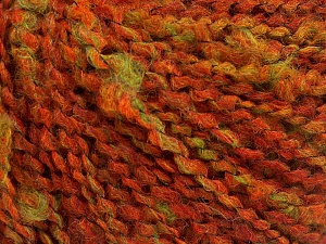 Fiber Content 45% Wool, 45% Acrylic, 10% Polyamide, Orange, Brand Ice Yarns, Green, Dark Orange, fnt2-65245