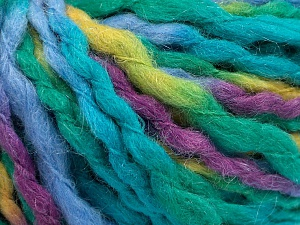 Fiber Content 60% Acrylic, 30% Wool, 10% Mohair, Purple, Brand Ice Yarns, Green Shades, Gold, fnt2-65261
