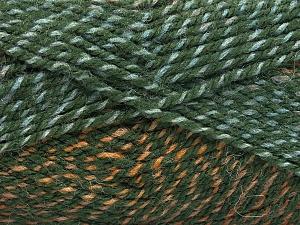 Fiber Content 50% Premium Acrylic, 50% Wool, Brand Ice Yarns, Green Shades, Brown Shades, fnt2-65273