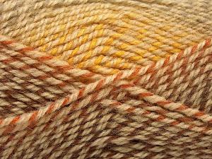 Fiber Content 50% Premium Acrylic, 50% Wool, Brand Ice Yarns, Gold, Brown Shades, fnt2-65274