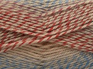 Fiber Content 50% Premium Acrylic, 50% Wool, Salmon Shades, Brand Ice Yarns, Copper, Camel, Blue, fnt2-65275