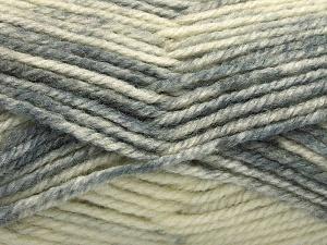 Fiber Content 50% Premium Acrylic, 50% Wool, Brand Ice Yarns, Grey Shades, Beige, Yarn Thickness 4 Medium Worsted, Afghan, Aran, fnt2-65277