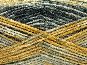 Fiber Content 50% Premium Acrylic, 50% Wool, Brand Ice Yarns, Grey Shades, Gold Shades, fnt2-65282