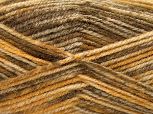 Fiber Content 50% Premium Acrylic, 50% Wool, Brand Ice Yarns, Gold, Brown Shades, fnt2-65283