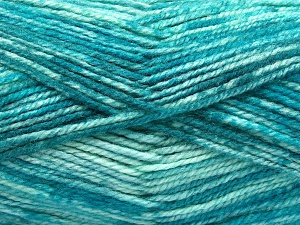 Fiber Content 50% Wool, 50% Premium Acrylic, Turquoise Shades, Brand Ice Yarns, fnt2-65287