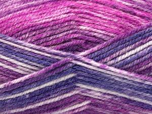 Fiber Content 50% Premium Acrylic, 50% Wool, Purple, Brand Ice Yarns, Fuchsia, Yarn Thickness 4 Medium Worsted, Afghan, Aran, fnt2-65291