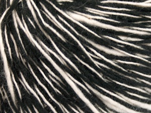 Fiber Content 55% Cotton, 45% Acrylic, White, Brand Ice Yarns, Black, fnt2-65319