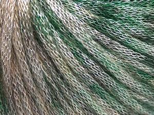 Fiber Content 62% Polyester, 19% Merino Wool, 19% Acrylic, Brand Ice Yarns, Green, Beige, fnt2-65325