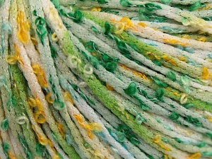 Fiber Content 100% Polyamide, White, Brand Ice Yarns, Green Shades, Gold, fnt2-65331