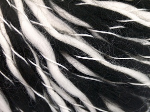 İçerik 60% Akrilik, 40% Yün, White, Brand Ice Yarns, Black, fnt2-65341