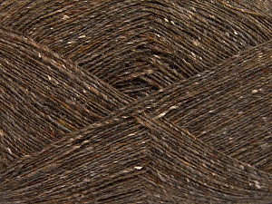 Tweed  Vezelgehalte 30% Polyamide, 30% Acryl, 30% Wol, 10% Zijde, Light Brown, Brand Ice Yarns, fnt2-65348