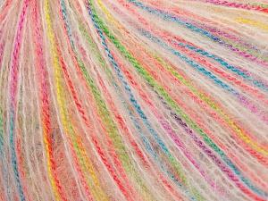Περιεχόμενο ίνας 50% Πολυαμίδη, 30% Ακρυλικό, 20% Μοχαίρ, Rainbow, Brand Ice Yarns, fnt2-65355