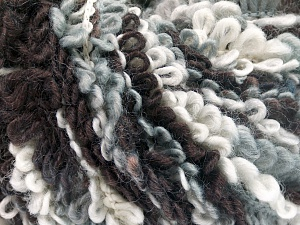 Fiber Content 50% Acrylic, 40% Wool, 10% Polyamide, White, Brand Ice Yarns, Grey, Black, fnt2-65387